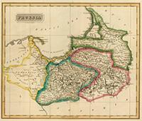 Карта Восточной Пруссии, 1822 г.