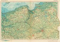 Карта Калининградской обл и Польши. 1964 г.