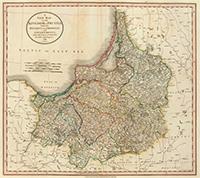 Карта Королевства Пруссии. 1799 год.