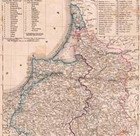 Карта Восточной Пруссии, 1855 г.