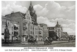Lyck, Stadt, Kreis Lyck Straße der SA (fr. Kaiser-Wilhelm-Straße)