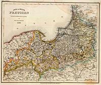 Карта Западной и Восточной Прусии,  1847 г.