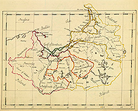 Карта Пруссии, 1810 г.