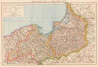 Карта - Западная и Восточная Пруссия. 1881 год.