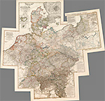 Карта Пруссии, Европа. 1833 год.