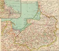 Карта Пруссии, 1929 г.