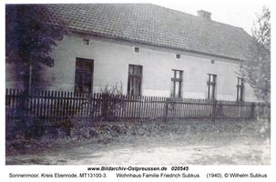 Sonnenmoor, Kreis Ebenrode