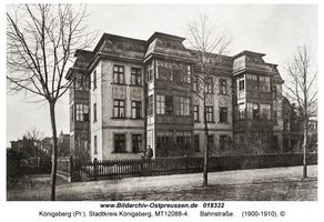 Königsberg (Pr.), Stadtkreis Königsberg Hindenburgstraße (fr. Bahnstraße) 3