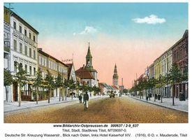 Tilsit, Stadt, Stadtkreis Tilsit Deutsche Straße
