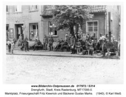 Drengfurth, Stadt, Kreis Rastenburg Marktplatz