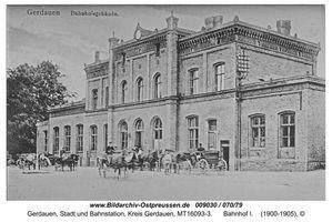 Gerdauen, Stadt und Bahnstation, Kreis Gerdauen