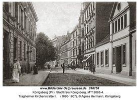 Königsberg (Pr.), Stadtkreis Königsberg Tragheimer Kirchenstraße