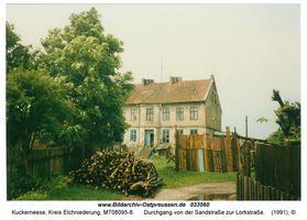 Kuckerneese, Ort, Kreis Elchniederung Sandstraße