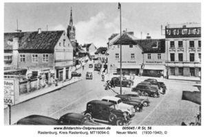 Rastenburg, Stadt, Kreis Rastenburg Neuer Markt