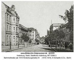 Insterburg, Stadt, Stadtkreis Insterburg Hindenburgstraße (fr. Goldaper Straße֨枆蟬뚶ße)