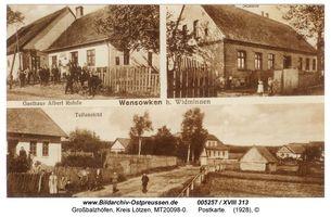 Großbalzhöfen, Kreis Lötzen