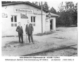 Wilhelmsbruch, Bahnhof, Kreis Elchniederung