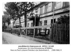 Kuckerneese, Ort, Kreis Elchniederung Gartenstraße 6