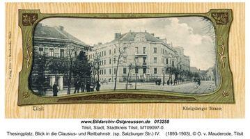 Tilsit, Stadt, Stadtkreis Tilsit Thesingplatz