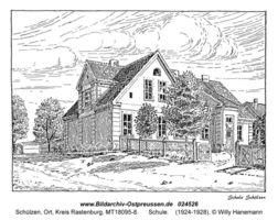Schülzen, Ort, Kreis Rastenburg