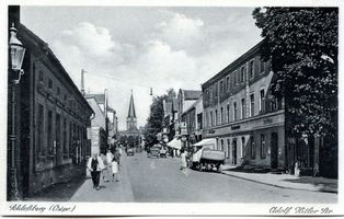 Schloßberg, Kreisstadt, Kreis Schloßberg Adolf-Hitler-Straße (fr. Schirwindter Straße)