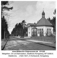 Metgethen, Ort und Bahnstation, Stadtkreis Königsberg