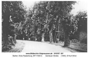 Barten Kr. Rastenburg, Kreis Rastenburg Gerdauer Straße