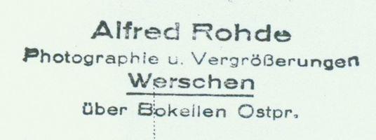 Werschen, Kreis Gerdauen